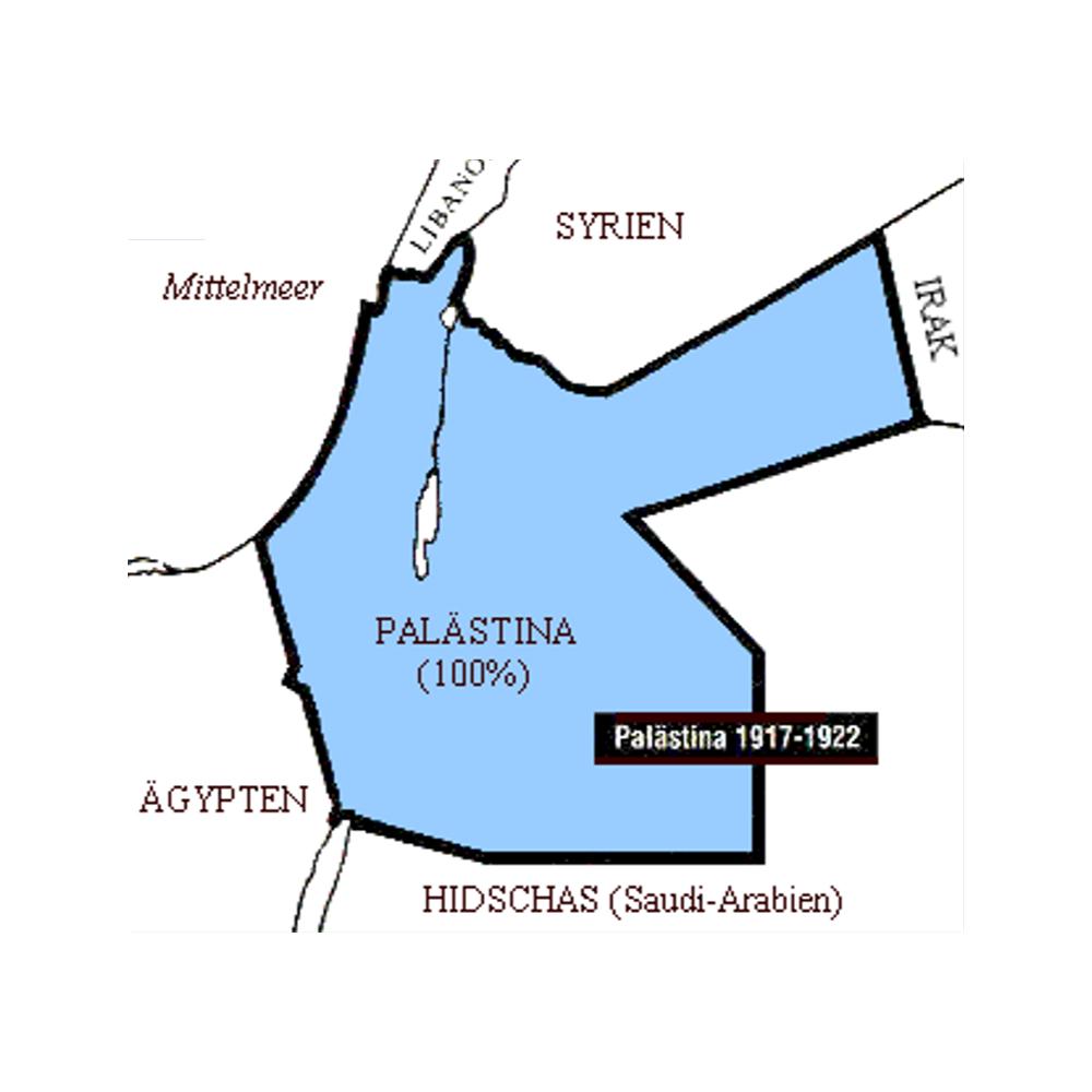 1920 Mandatgebiet des Völkerbundes über Palästina.